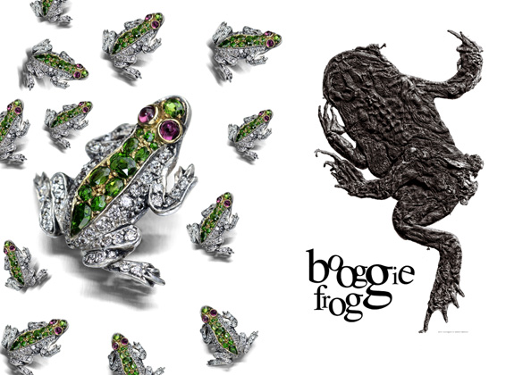 Jewelled frog. Booggie frog